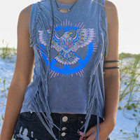 Peace Eagle Sleeveless Top