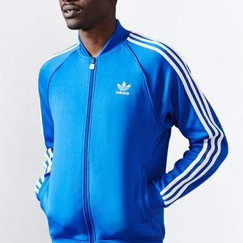 adidas Superstar Royal Blue and White Track Jacket at PacSun.com