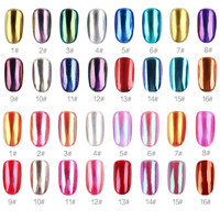 New upgrade 16 Color Gel Polish Nail Glitter silver mirror powder nails vtirka polish chrome nail powder Mirror Pigment Chrome