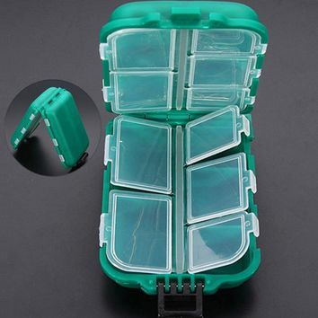 Transparent Fly Fishing Compartments Waterproof Box