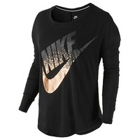 Nike Signal Long Sleeve Metallic T-Shirt - Women's at Eastbay