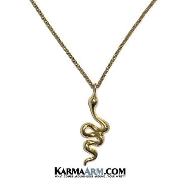 NECKLACE | SNAKE | Gold Stainless Steel Chain Necklace