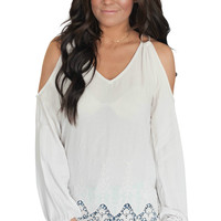 Brighten Your Day Double Strap Detailed Cold Shoulder Top