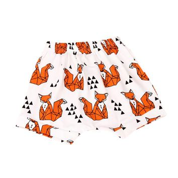 Baby Boys Girls Summer Shorts Boy's Cotton Shorts Kids Cute Harem Shorts Pants Children's Fashion Animal Printed Shorts New