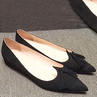 Christian Louboutin Fashion Edgy Pointed Flats Shoes