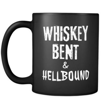Whiskey Whiskey Bent & Hellbound 11oz Black Mug