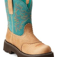 Ariat Fatbaby Saddle Vamp Cowgirl Boots - Round Toe - Sheplers
