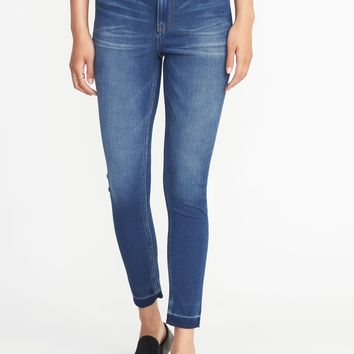 High-Rise Rockstar 24/7 Released-Hem Super Skinny Jeans for Women | Old Navy