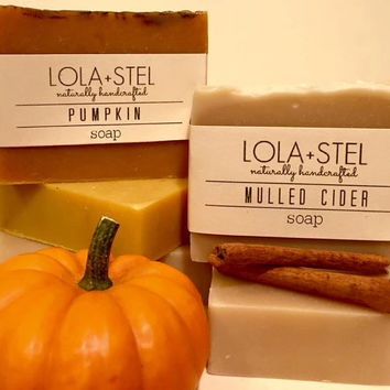 All Natural Pumpkin or Mulled Cider Soap, Cold Process Soap, Vegan Soap