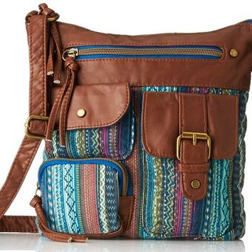 T-Shirt & Jeans Blanket Printed Cross Body Bag