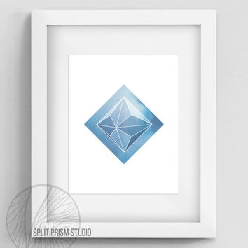 Prism Art Instant Download, Printable Wall Art, Blue Prism Wall Art, Prism, Modern Home Decor, Geometric Home Decor, Geometric Wall Art