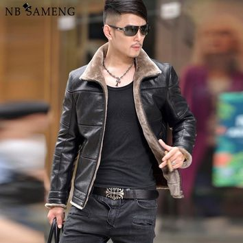 Leather Jackets Men Male Outwear