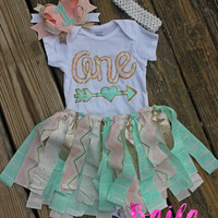 first birthday outfit girl, 1st birthday outfit, number one outfit, pink aqua, baby party dress, cake smash outfit girl, cake smash set