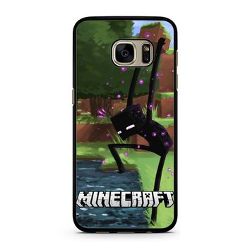 Minecraft Enderman And Water Samsung Galaxy S7 Case