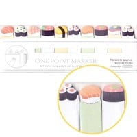 Tiny Sushi Roll Food Themed Memo Post-it Index Bookmark Tabs From Japan