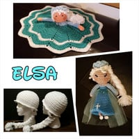 READY to SHIP  Ice Queen Lovey security blanket