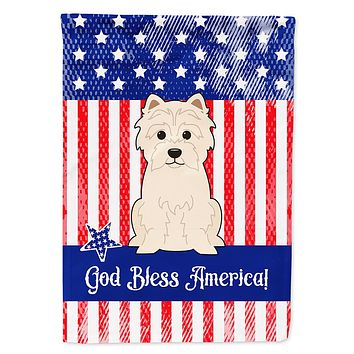 Patriotic USA Westie Flag Canvas House Size BB3037CHF