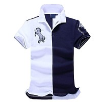 2017 New Top good Quality embroidery men Men brand-clothing polo Shirts Brand Fashion men polo shirt clothing camisa polo