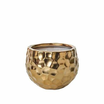SILVER BIRCH SMALL GOLD DIMPLED CANDLE