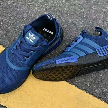One-nice™ Adidas NMD Women Men Fashion Trending Sneakers Running Sports Shoes Sapphire blue I-CSXY