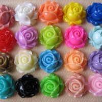 20PCS - Cabbage Rose Flower Cabocho.. on Luulla