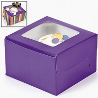 Dozen Purple Cupcake Boxes
