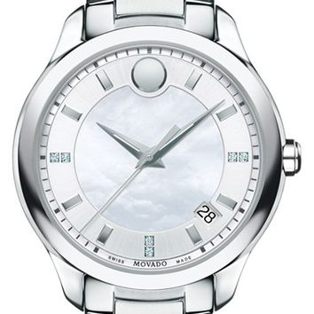 Women's Movado 'Bellina' Bracelet Watch, 36mm - Silver