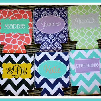 Monogrammed Can Koozie, Can Coozie, Personalized Can Koozie, Personalized Can Koozies, Monogrammed Can Koozie, Personalized Can Wrap