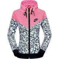 """NIKE"" Women Zip Hooded Sweatshirt Jacket Sport Cardigan Coat Windbreaker"