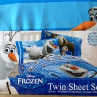 Disney Frozen Olaf Twin Sheet Set