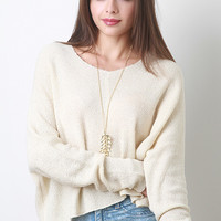 Woven Knit Sweater Top