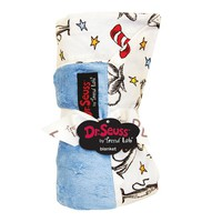 Dr. Seuss ''The Cat in the Hat'' Receiving Blanket by Trend Lab (Blue)