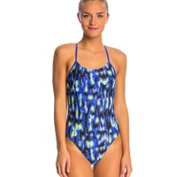 Nike Blurred Lines Cut Out Tank One Piece Swimsuit at SwimOutlet.com - Free Shipping