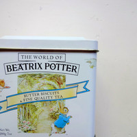 Vintage Beatrix Potter Metal Canister 1993