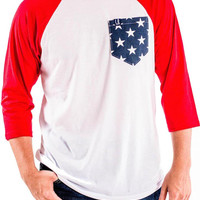 Men's Patriotic Pocket Baseball Tee