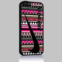 Just Do It Nike Aztec Geometric 04 for Iphone 4/4s 5 5c 6 6plus Case (iphone 6plus black)