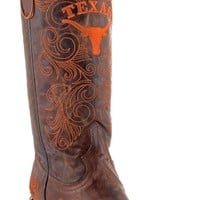 Gameday U Of Texas Ladies Leather Boots UT-L071-1 - Brass