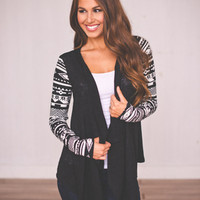 Black & White Open Sweater
