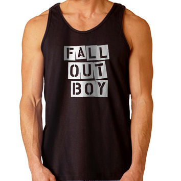 fall out boy flower white For Mens Tank Top Fast Shipping For USA special christmas ***