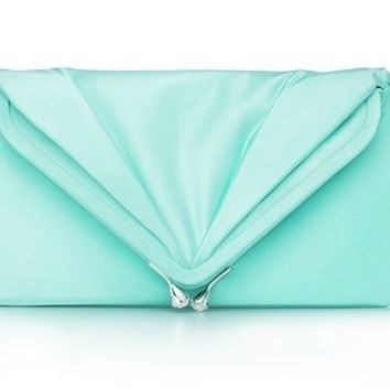Tiffany & Co. | Item | Savoy clutch in Tiffany Blue?- satin. More colors available. | United States