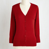 Scholastic Mid-length 3 Charter School Cardigan in Red