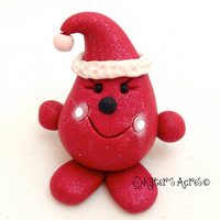 CHRISTMAS SANTA Disguise PARKER - Polymer Clay Character Tree Ornament or Figurine