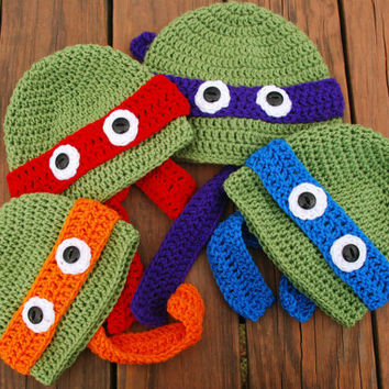 Teenage Mutant Ninja Turtles (TMNT) inspired Crochet hat/beanie