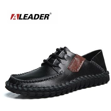Men Genuine Leather Shoes Casual Handmade Designer Shoes Men Fashion Dress Loafers Driving Moccasins For Men