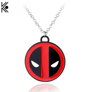 Deadpool Dead pool Taco Super Hero Statement  Necklace Alloy Logo Marvel  Metal Mask Necklace Famous Movie Jewelry AT_70_6