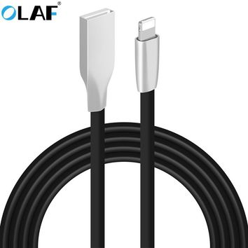 OLAF 3D Zinc Alloy Fast Charging Data Sync Charger USB Cable For iPhone 6 6s 7 Plus 5 5s SE iPad Air Mini Mobile Phone Cables