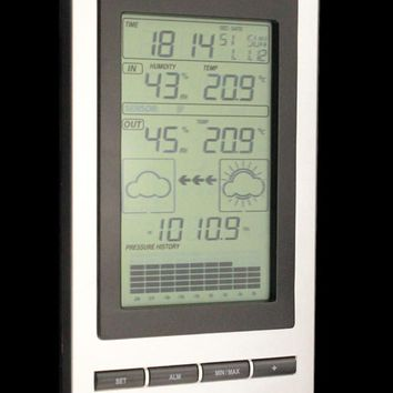 wireless Weather Station wireless thermometer with Outdoor Temperature and humidity sensor LCD display Barometer