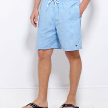 Mens Swim Trunks and Board Shorts: Striped Bungalow Shorts - Vineyard Vines
