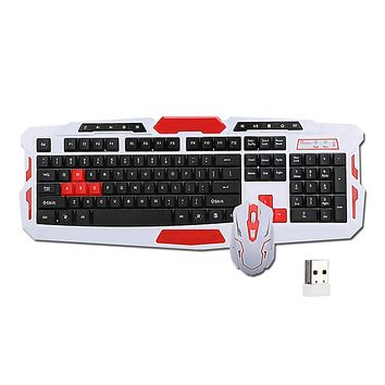 Wireless Keyboard Mouse Set for PC Gaming