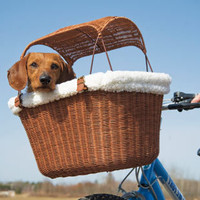 Bicycle Baskets for dogs: Bike Carriers: Tagalong Wicker Bicycle Basket